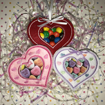 Valentine Heart ITH Candy Holder