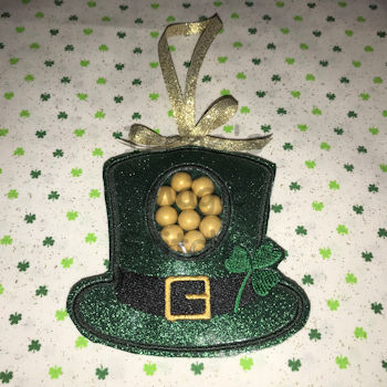 St. Patrick Hat ITH Candy Holder