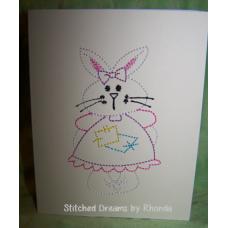 Girl Bunny Single Easter Card