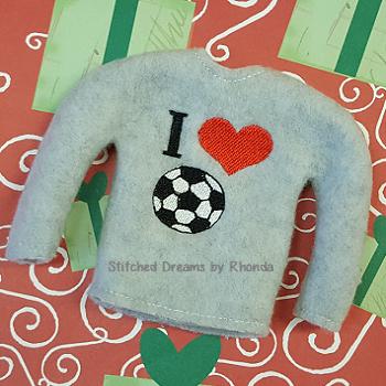 I Love Soccer Elf Shirt