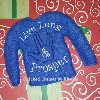 Live Long and Prosper Elf Shirt