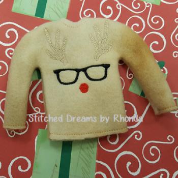 Nerdy Reindeer Elf Shirt ITH