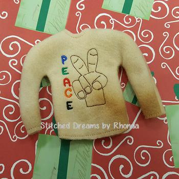 Peace Elf Shirt ITH