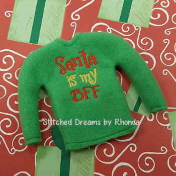 Santa is my BFF Elf Shirt ITH