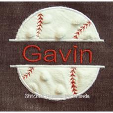 Split Baseball Appl 3 Sizes