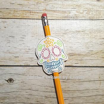 Sugar Skull Pencil Pal ITH